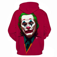 Unisex 2019 Movie Joker Hoodies Arthur Fleck Printed Pullover Jacket Sweatshirt