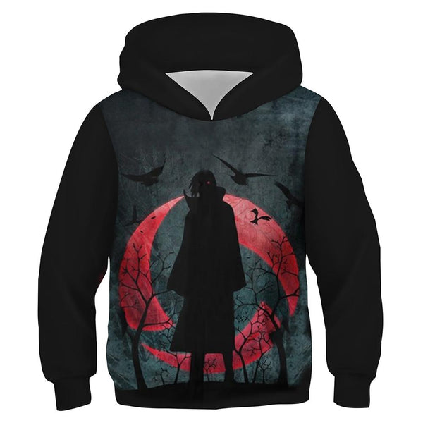 Kids Hoodies Uchiha Itachi 3D Printed Hoodie Sweatshirt Anime Pullover Jacket Coat Children Clothes