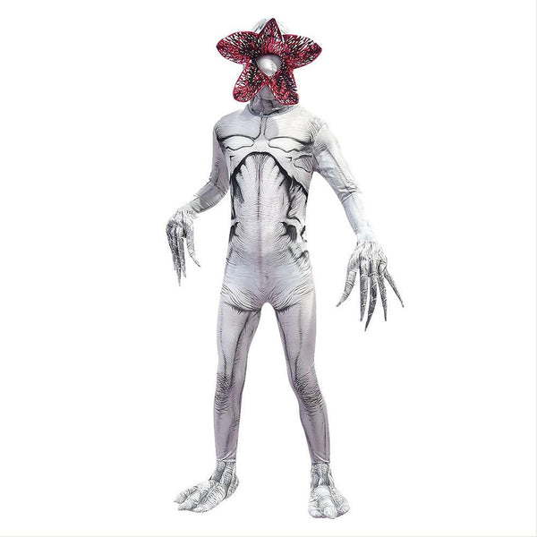Kids Stranger Things Cosplay Demogorgon Eater Flower Mask Halloween Costume Creepy Clothes