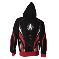 Unisex Movie Hoodies Star Trek Zip Up 3D Print Jacket Sweatshirt