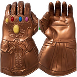 Avengers Endgame Thanos Gauntlet, LED Light PVC Thanos Infinity Gloves Cosplay Props for Halloween Carnival Party Gold