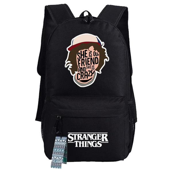 Stranger Things College School Book Bag Travel Hiking Camping Daypack