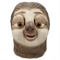 Halloween Novelty Costume Party Latex Jungle Animal Masks Zootopia Flash Sloth Bear Head Mask