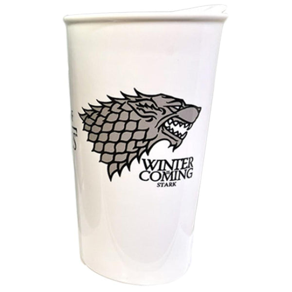 Game of Thrones - House Stark Tumbler with Wrap and Black Lid