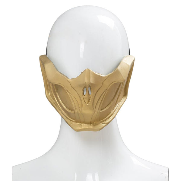 Mortal Kombat 11 Scorpion Mask Adjustable Adult Halloween Cosplay Costume Accessory Prop Latex