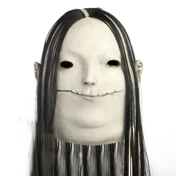 Halloween Scary Stories to Tell in the Dark Mask Black Hair Scary Decoration Props Masks