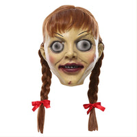 Halloween Annabelle Mask Cosplay Mask Party Performance Props Horror Ghost Doll Mask