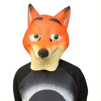 Halloween Mask Costume Party Latex Funny Fox Mask Animal Head Mask