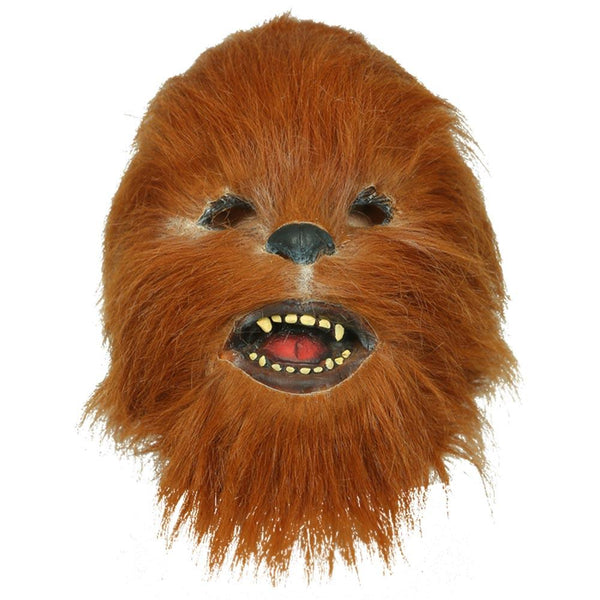 Star Wars Chewbacca Mask Cosplay Helmet Mask with Fur Carnival Party Props