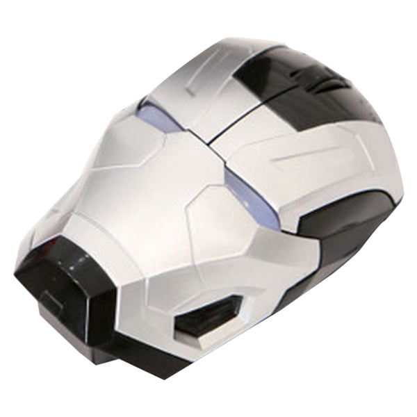 Cool Wireless Mouse Iron Man Gaming Mice Portable Mobile Computer Click Silent Mouse for PC and Laptops