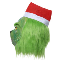 How The Grinch Stole Christmas Headgear Mask Simulation Halloween Party Cosplay Props Toy