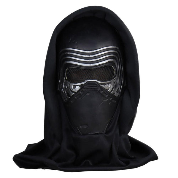Star Wars: The Rise of Skywalk Kylo Ren Mask Cosplay Latex Mask with Headscarf Veil Hood Full Face Helmet