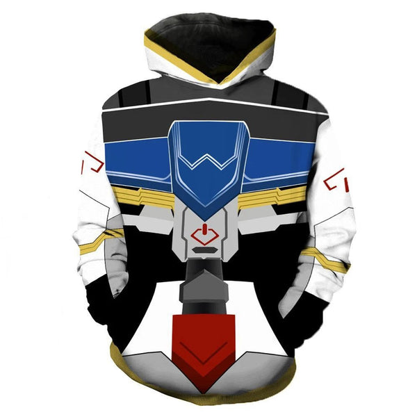 Unisex Mobile Suit Gundam Cosplay Hoodie Pullover Hooded Coats Sweatershirt Tops Costume