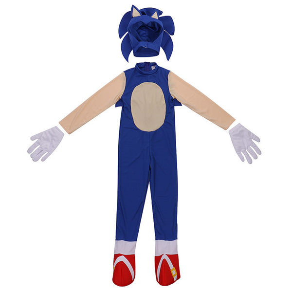 Kids Sonic The Hedgehog Jumpsuit Halloween Cosplay Costume Birthday Party Role Play Carnival Performance Outfits