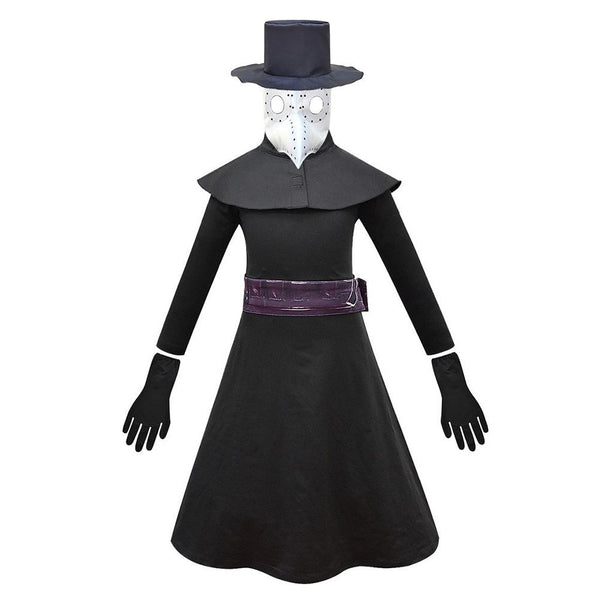 Kids Plague Doctor Cosplay Costume Halloween Children Jumpsuit Outfits Carnival Suit