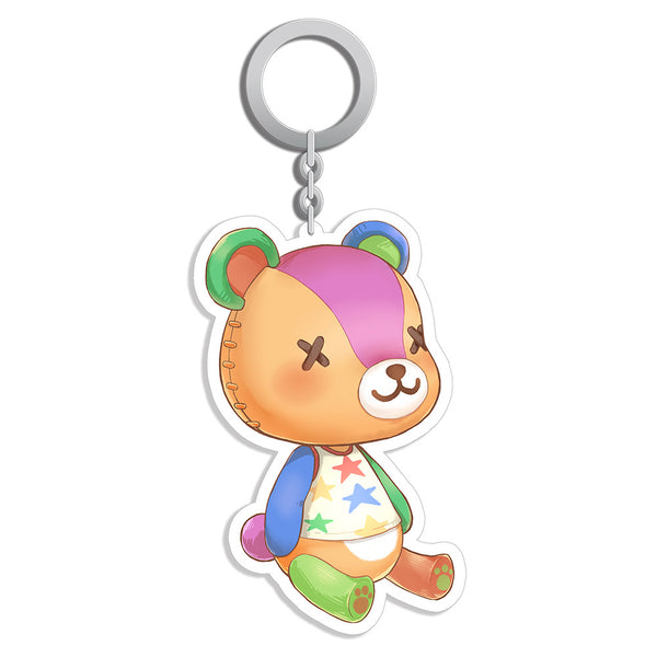 Game Animal Crossing Acrylic Keychain Stitches Pendant Keyrings