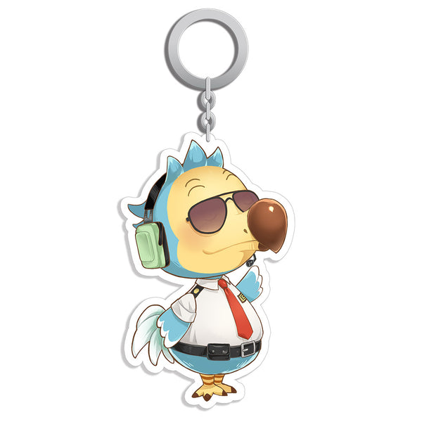 Game Animal Crossing Acrylic Keychain Wilbur Orville Pendant Keyrings