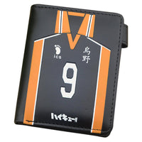 Anime Haikyuu!! Kageyama Tobio PU Short Wallet Coin Purse Multilayer Double-button Wallet