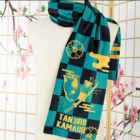 Anime Demon Slayer: Kimetsu no Yaiba Figure Cosplay Scarf Keep Warm Scarf Casual Neck Scarf Cosplay Gift