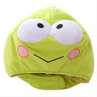Novelty Funny Frog Hat Headgear Head Cover Animal Plush Cap Halloween Costume Party Photo Props