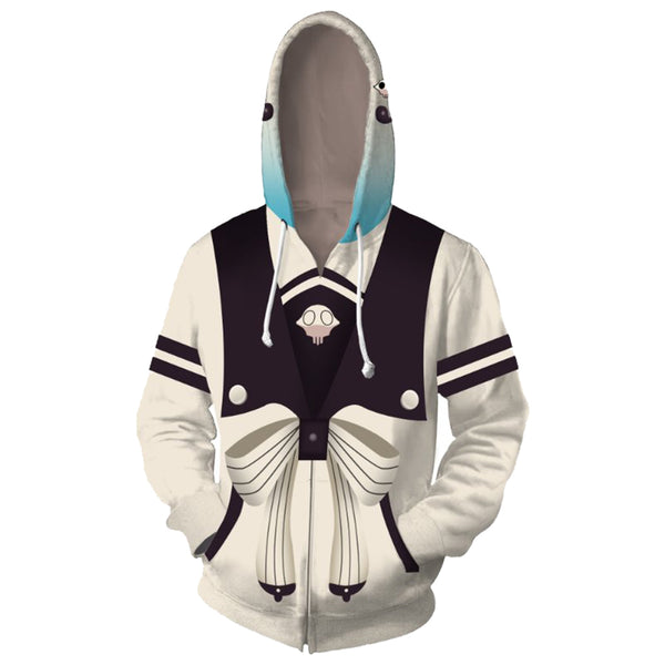 Unisex Yashiro Nene Hoodies Toilet-Bound Hanako-kun Zip Up 3D Print Jacket Sweatshirt