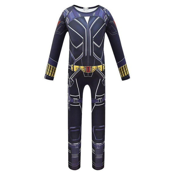 Kids Black Widow Cosplay Zentai Suit Halloween Costume Children Jumpsuit Bodysuit Outfits