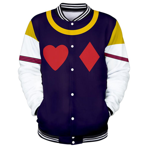 Unisex HUNTER×HUNTER Hisoka Cosplay Jacket Sportswear Costumes Coat 3D Print Jacket Sweatshirt