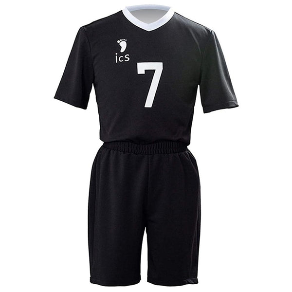 Unisex Haikyuu!! Inarizaki High School Volleyball Club Team Uniform Atsumu Miya Cosplay Short Sleeve Top + Shorts Sets