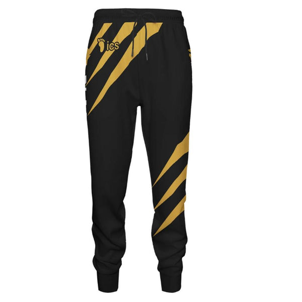 Unisex Sports Sweat Pants Straight Pants Anime Haikyuu!! MSBY Black Jackal Sweatpants Jogging Long Pants