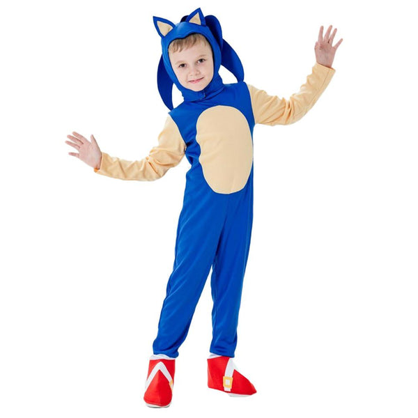 Kids Sonic the Hedgehog Cosplay Costume Boys Girls Fun Character Halloween Party Performance Sets Clothes