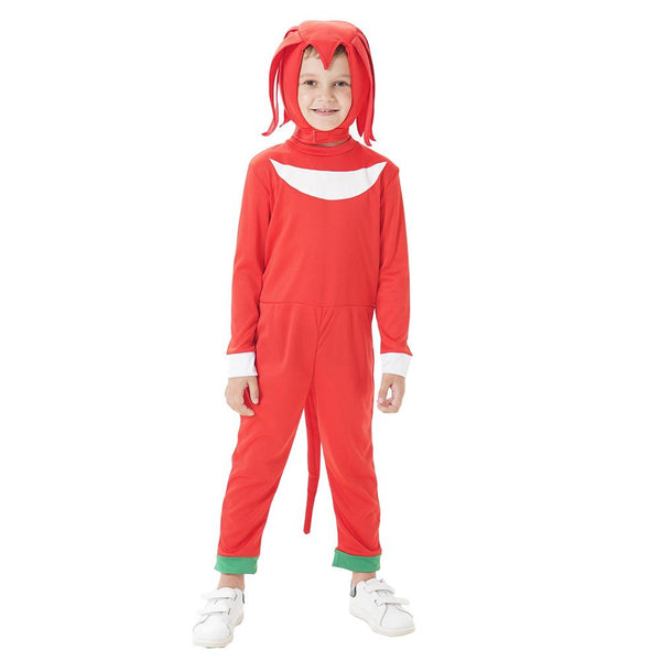 Kids Knuckles the Echidna Cosplay Costume Boys Girls Fun Character Halloween Party Performance Sets Clothes