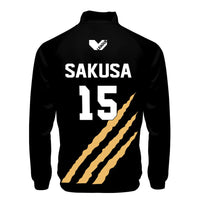 Anime Haikyuu!! Cosplay Jacket MSBY Black Jackal #15 Kiyoomi Sakusa Black Sportswear Costumes Coat