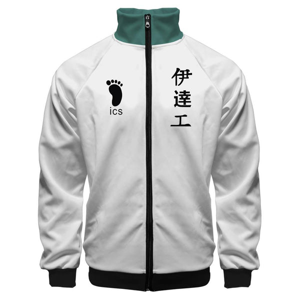 Anime Haikyuu!! Cosplay Jacket Date Tech High School Volleyball Club Sportswear Costumes Coat