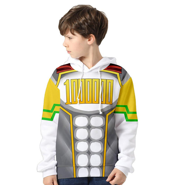Kids My Hero Academia Hoodie Million Cosplay Hooded Pullover Sweatshirt Cosplay Costume