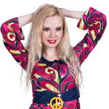 Women 1960s Hippie Costume Sexy 60s Female Disco Hippy 1960s Outfit Dress