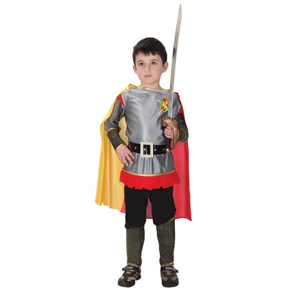 Kids Roman Warrior Knight Cosplay Hallowean Carnival Party Boy Prince King Costume Masquerade Suit