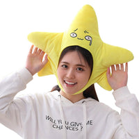 Funny Plush Star Hat Cap Party Gift Halloween Christmas Novelty Party Dress up Cosplay