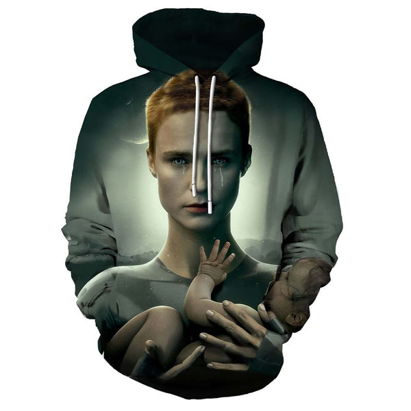 Unisex Raised by Wolves Hoodies 3D Print Pullover Sweatshirt Outfit Cosplay Casual Outerwear