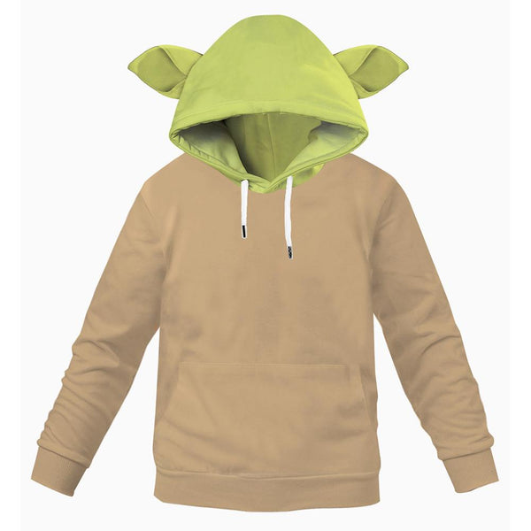 Kids Star Wars: The Mandalorian Baby Yoda Cosplay Hoodie 3D Printed Pullover Sweatshirt