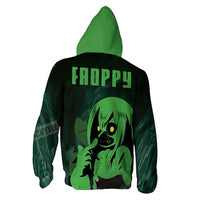 Unisex My Hero Academia Hoodies 3D Print Zip Up Sweatshirt Outfit Asui Tsuyu Printed Casual Outerwear