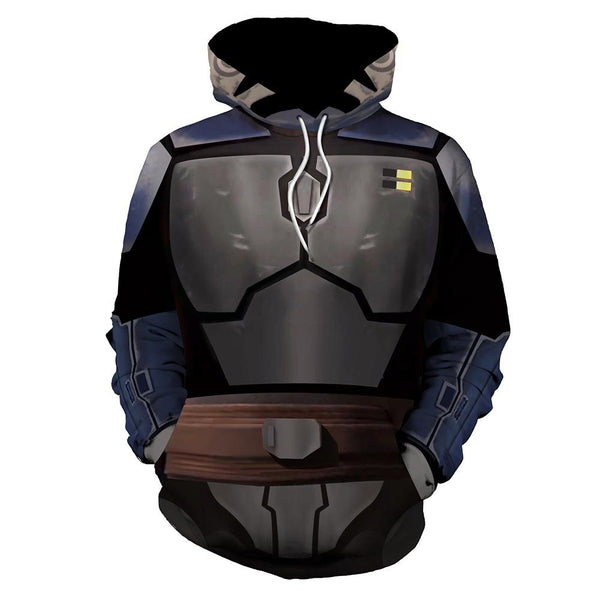 Unisex Star Wars Rebels Pullover Hoodies Sweatshirt Mandalorian Cosplay Casual Coat Streetwear