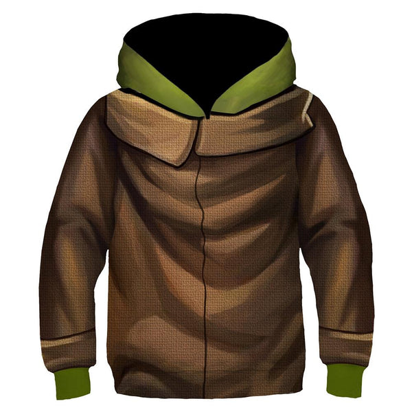 Kids Baby Yoda Cosplay Hoodies 3D Print Pullover Sweatshirt Outfit Casual Outerwear