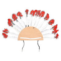 Indians Style Feather Headdress Hat Adjustable Costume Festival Cosplay Party Supplies Reusable Headwear Caps