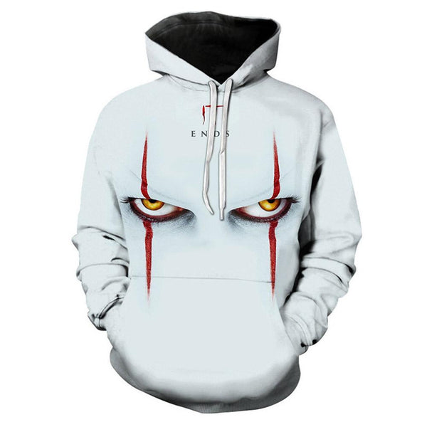 Unisex It: Chapter Two Cosplay Hoodies Men Women Long Sleeve Casual Pullover Sweatshirt