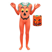 Kids Halloween Pumpkin Cosplay Costume Jumpsuit 3D Print Festival Halloween Party Suit