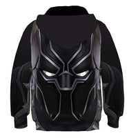 Kids Black Panther Hoodies 3D Print Pullover Sweatshirt Outfit Cosplay Casual Outerwear