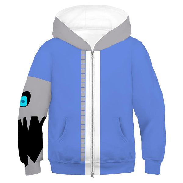 Kids Undertale Cosplay Hoodies Boys Girls Long Sleeve Casual Pullover Sweatshirt
