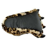 Winter Warm Soft Indoor Floor Slippers Leopard Paw Funny Animal Monster Claw Plush Slippers
