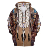Native Indian 3D Hoodies Sweatshirts Unisex Hooded Winter Autumn Long Sleeve Streetwear Pullover Hoodie