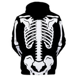 Unisex Halloween Cosplay Hoodies Men Women Skeleton Printed Long Sleeve Sportswear Casual Pullover Sweatshirt